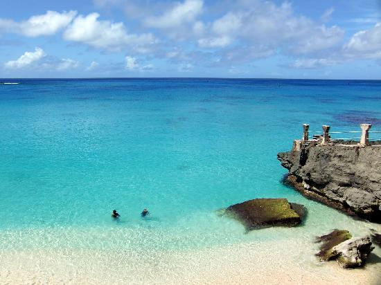 Tinian, หมู่เกาะมาเรียนา: ポカリスエットのCMで有名なタガビーチ