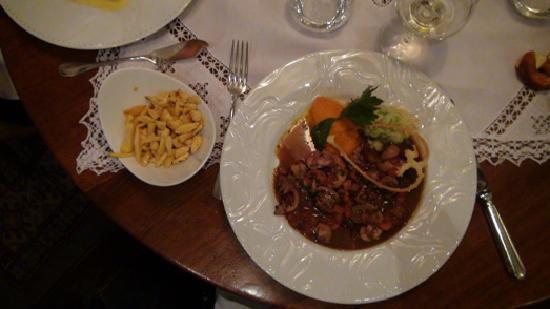 Restaurant La Grappe d'Or : Rognons et Spätzles