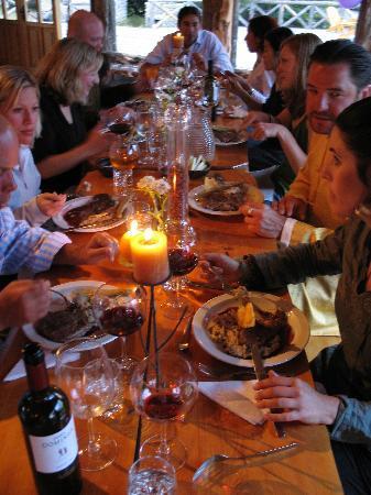 Dining at H2O Patagonia