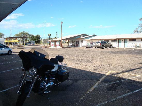 Motel Safari: parking lot