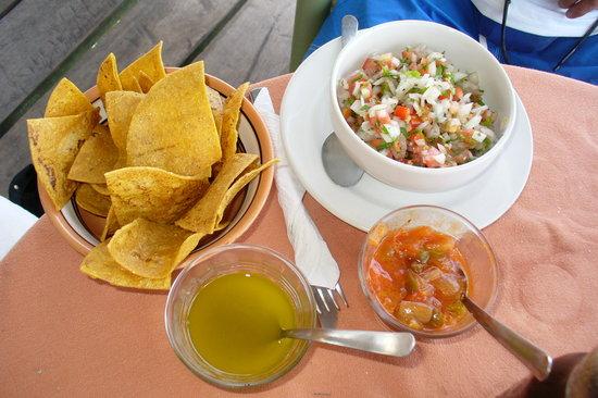 Bally Hoo Restaurant & Fish Tacos: The very original salsa