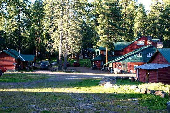 Hannagan Meadow Lodge: Small compound.