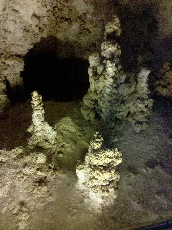 Carlsbad Caverns National Park, NM: stalagmite formations inside cavern