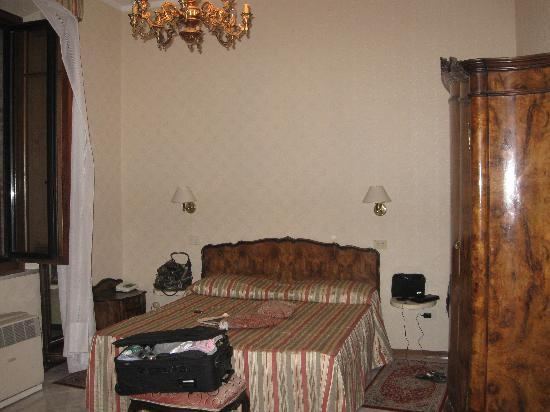 """Hotel Moderno: This was the """"upgraded"""" room they gave us."""