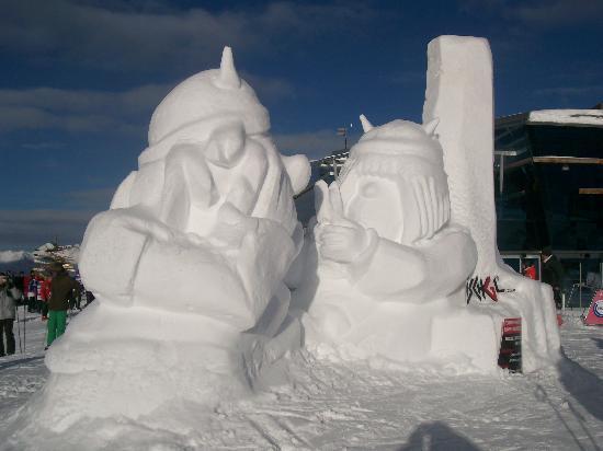See, Austria: Sculptures sur Glace à Ischgl