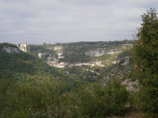 Rocamadour, Frankreich: superbe vue sur la vallée