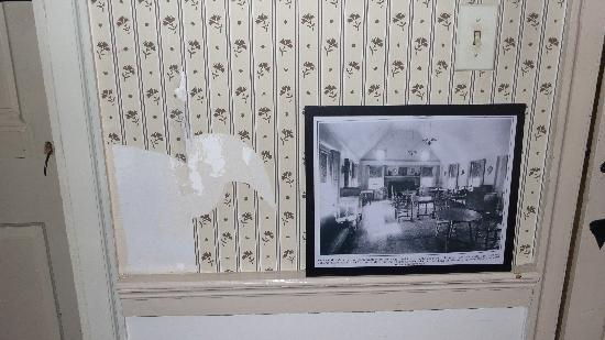 Litchfield, CT: Torn off wallpaper hidden by picture (2 of 2)