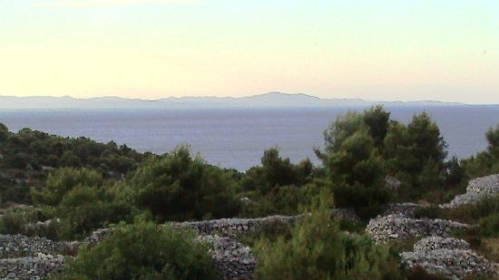 Hvar, Kroatien: View from our apartmani