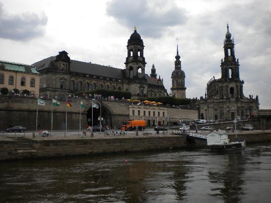 Dresden, Almanya: ein Blick auf das Zentrum