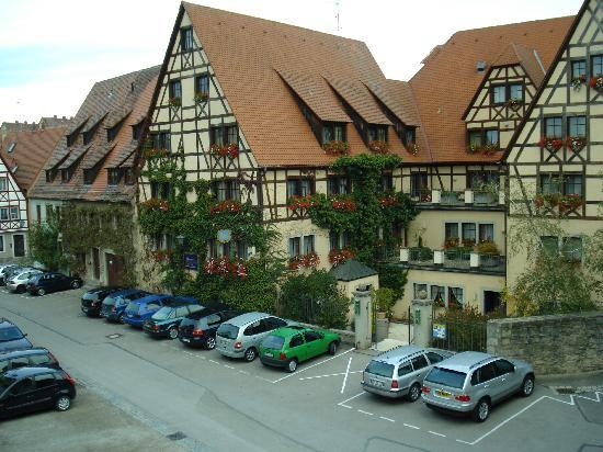 Prinzhotel Rothenburg : Outside of hotel from inside wall