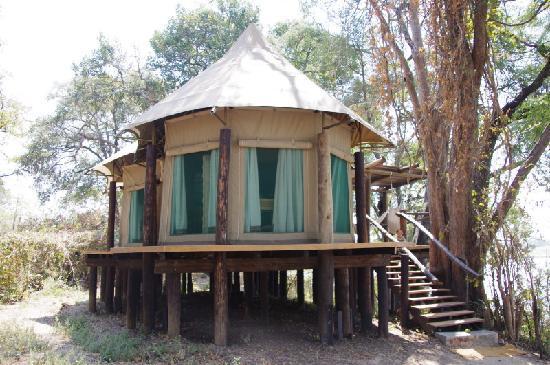 Chindeni Bushcamp - The Bushcamp Company: tent exterior1