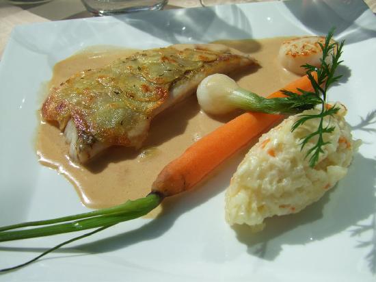 Hostellerie du Mont-Aime: du poisson et du riz au lait