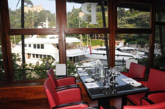 Il Pitosforo: la vista sugli yachts