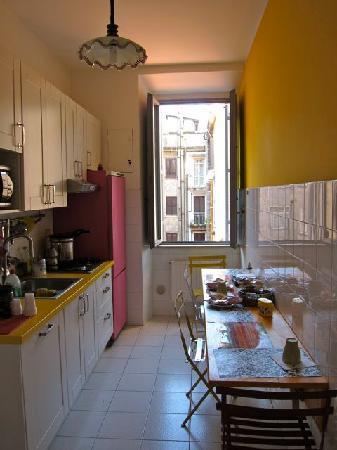 The kitchen/breakfast area.