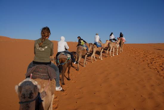 Marrakesch, Marokko: Merzouga 5000 etoile on plien desert
