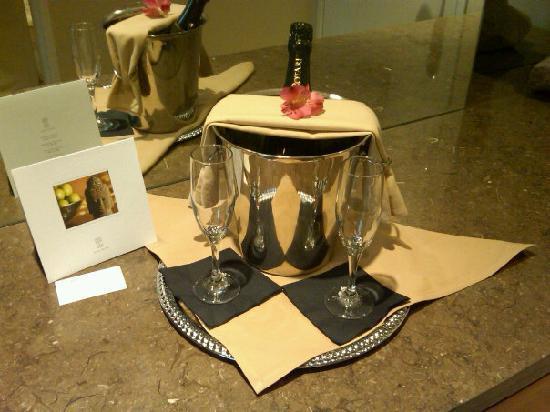 Hotel Teatro : Champagne Toast