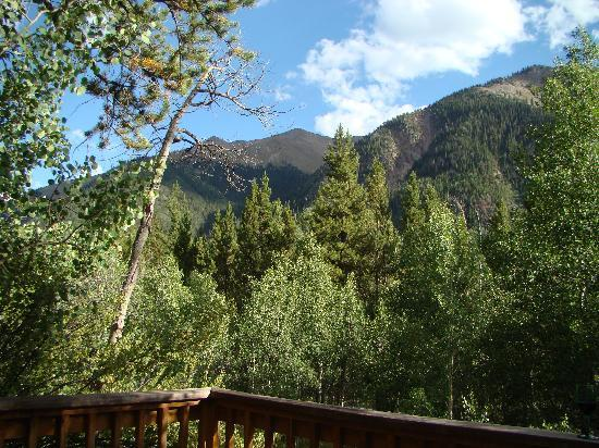 Mount Elbert Lodge: View from the deck of Trail's End