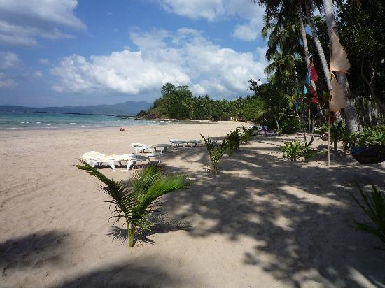Daluyon Beach and Mountain Resort: Strand direkt vor dem Hotel,. nach rechts fotografiert.