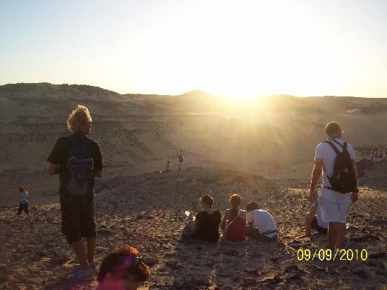 Nubian Desert: tramonto nel deserto nubiano