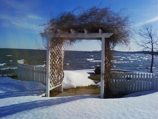 Silver Waters Bed and Breakfast: The wedding arbor in Winter... Sodus Point