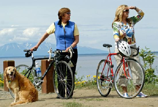 Biking Anchorage's Tony Knowles Coastal Trail, Photo by Cathryn Posey/ACVB