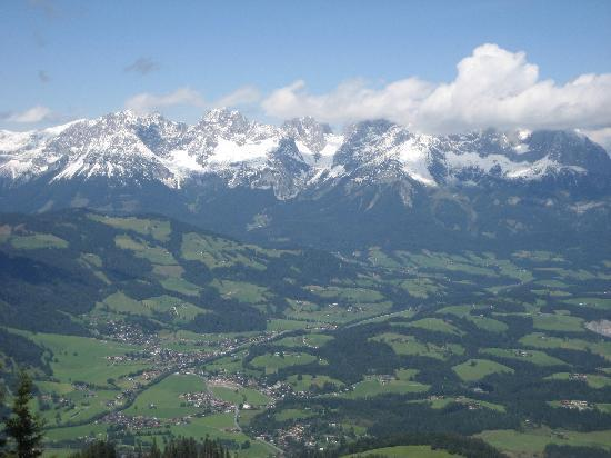 Kitzbuhel, Austria: Looking down into the valley