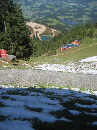 Kitzbuhel, Austria: The start gate of the Hahnenkamm