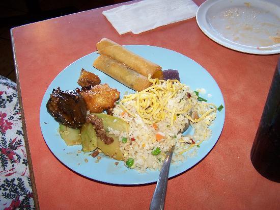 Chan's Gourmet Buffet: A plate from Chan's.