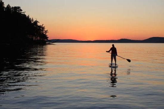Лагуна-Бич, Калифорния: Sunset paddle boarding.