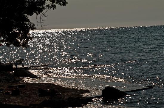 Umag, Kroatien: Blick auf den abendlichen Strand