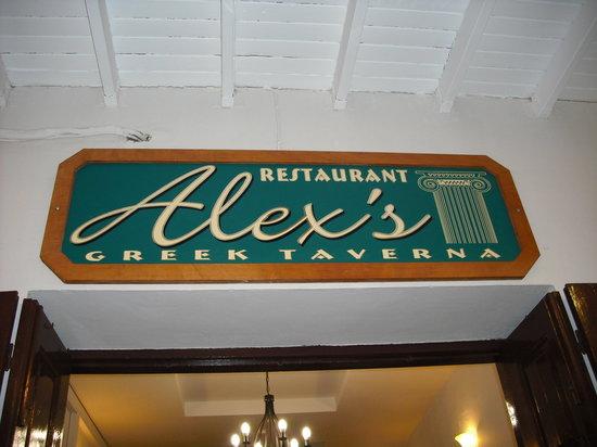 Alex's Restaurant : Alex's