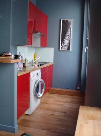 Paiko Apart' Hotel : la cocina está totalmente equipada