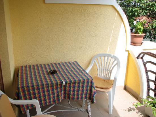 The balcony of room 206 Hotel Bacchus Keszthely