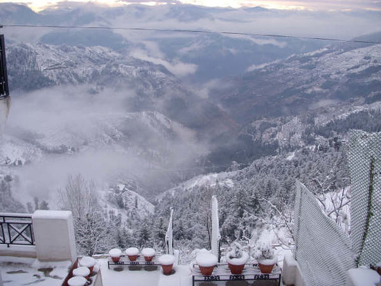 Krish Rauni Resort: under the blanket of snow..view from krishrauni