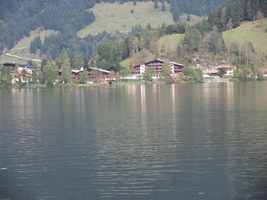 Walchsee, Austria: Hotel from across the lake