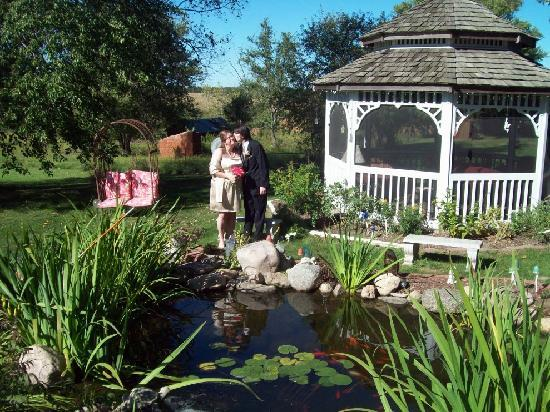 Cloran Mansion Bed & Breakfast : Just married by the pond!