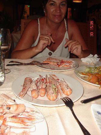 Playacartaya Spa Hotel: Marisquito en las comidas