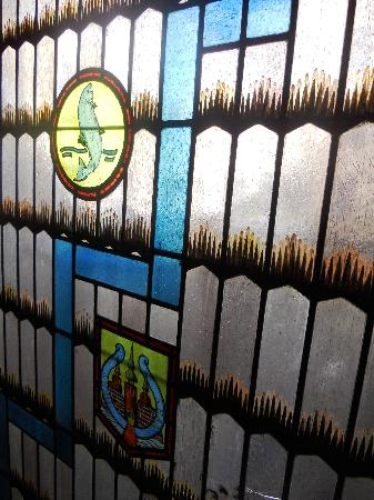 Hotel Randers : Stained Glass in the Hallway