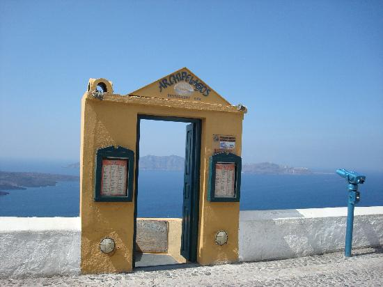 Santorini, Greece: Vista desde Fira