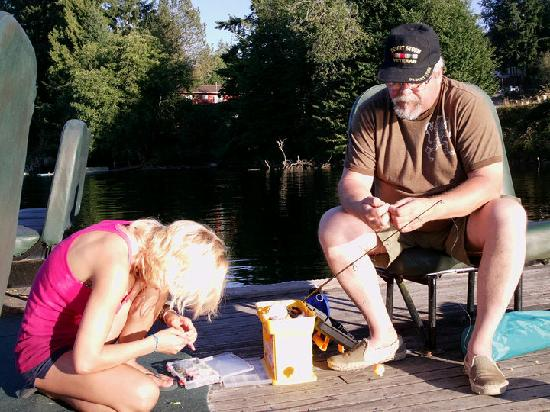 Lake Mayfield  Marina Resort & RV Park: My daughter learning to fish