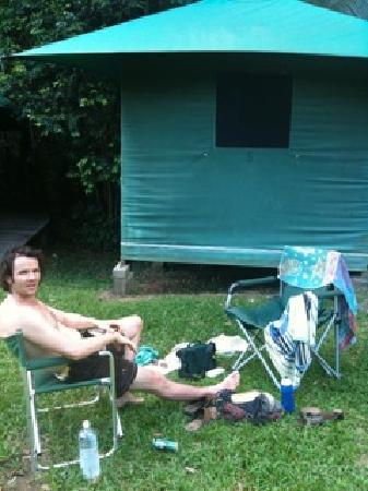 Cape Trib Camping: how we kept tents from being put up in our car spot
