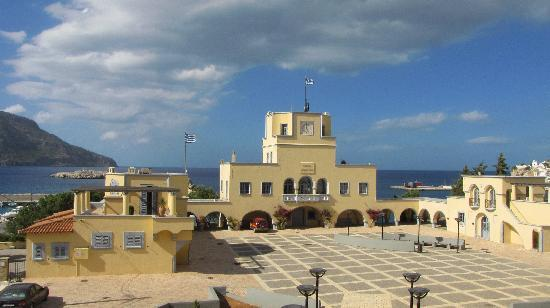 Kárpathos, اليونان: dal poggiolo dell'Hotel Atlantis