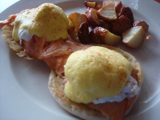 Jenner, CA: salmon eggs benedict