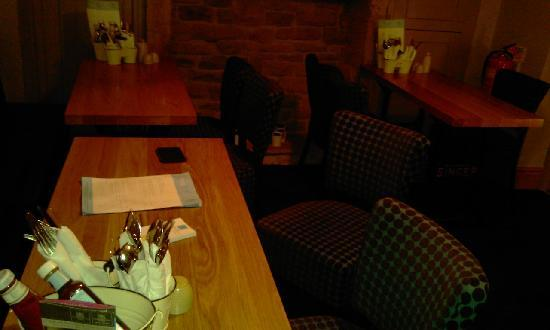 Devonshire Arms at Pilsley: Cluttered table
