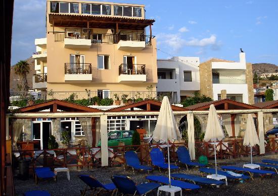Akti Olous Hotel: Hôtel Akti Olous, depuis le Blue Sea Restaurant