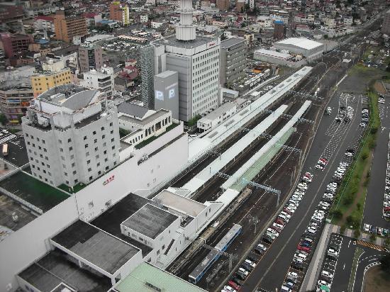 Kajo Central: 霞城セントラル 展望フロアから見る山形駅