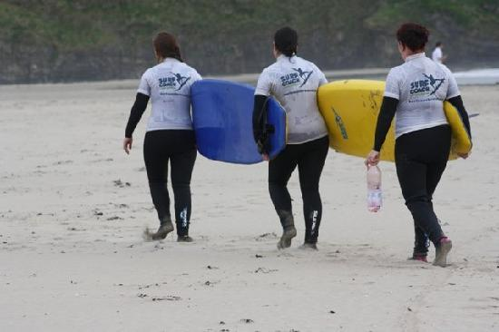 Surfworld Bundoran: the boards are huge but with a little will help you can manage