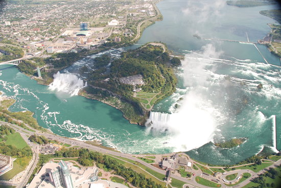 National Helicopters - Niagara Falls Heli-Tours: View from about 2500' above the falls.