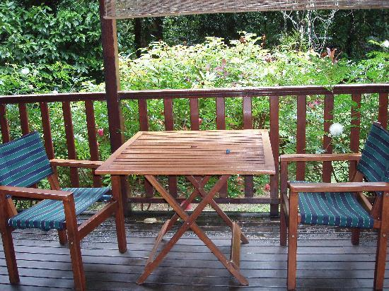 Red Mill House in Daintree: The back porch outside of our room