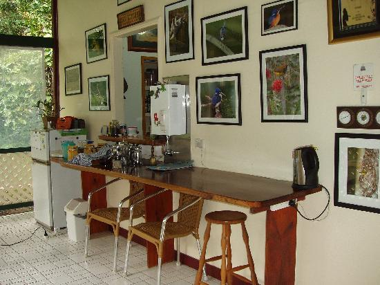 Red Mill House in Daintree: Breakfast area...delicious homemade breakfast every morning!